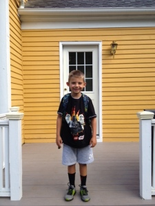 first day 1st grade photo